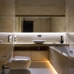 Подсветка умывальника в ванной комнате