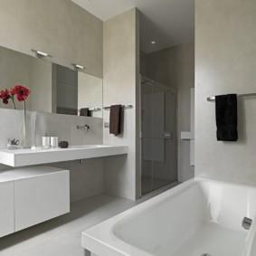 Ванная комната в квартире панельного дома