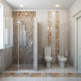 Совмещенная ванная с биде и душем