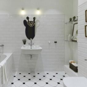Плитка кабанчик в дизайне ванной