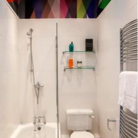 Дизайн ванной с натяжным потолком
