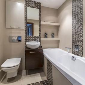 Встроенные полочки для туалетных принадлежностей