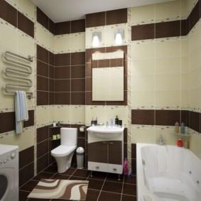 Белая акриловая ванна с функцией гидромассажа