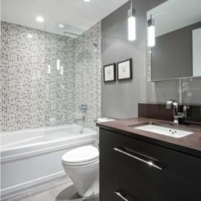 Встроенная раковина в ванной современного стиля