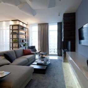 Зона отдыха с удобным раскладным диваном