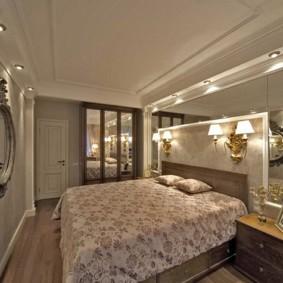 Зеркальные поверхности в дизайне спальни