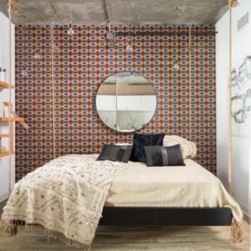 Открыты полки в спальном помещении