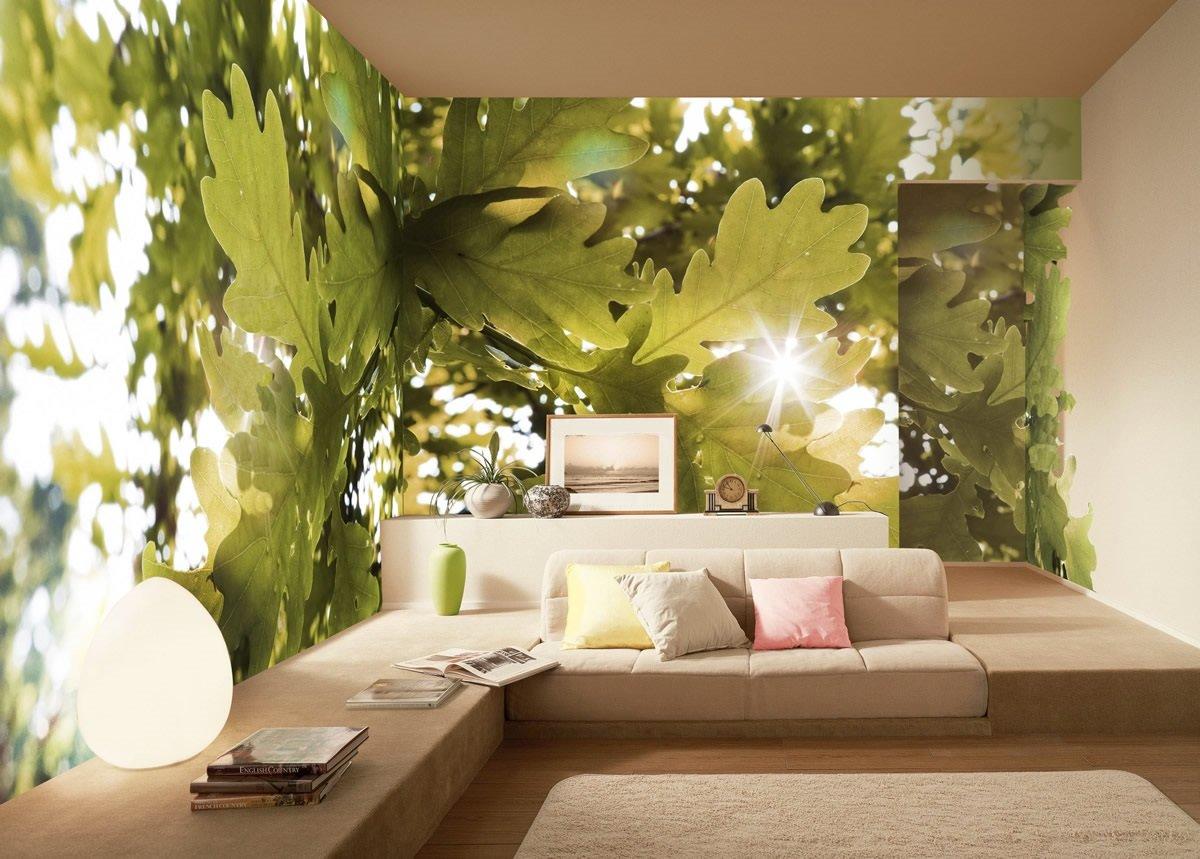 фотообои дубовые листья