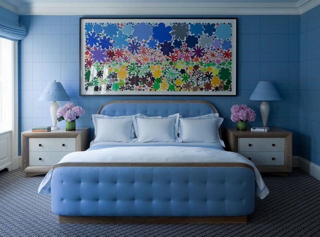 голубая спальня идеи