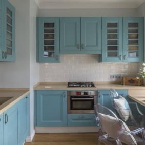 голубой цвет в интерьере декор фото