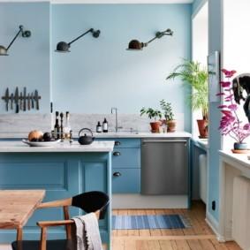 голубой цвет в интерьере идеи декор