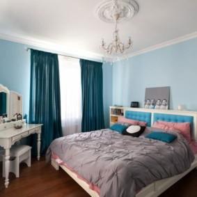 голубой цвет в интерьере идеи декора
