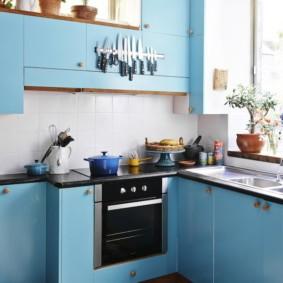 голубой цвет в интерьере фото оформление