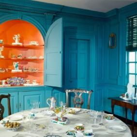 голубой цвет в интерьере виды идеи