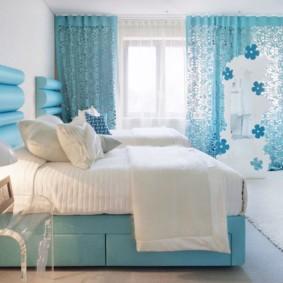 голубой цвет в интерьере варианты дизайна