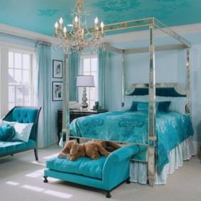 голубой цвет в интерьере дизайн фото
