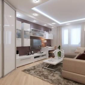 гостиная в современном стиле декор