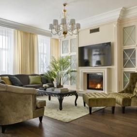 гостиная в современном стиле идеи интерьер