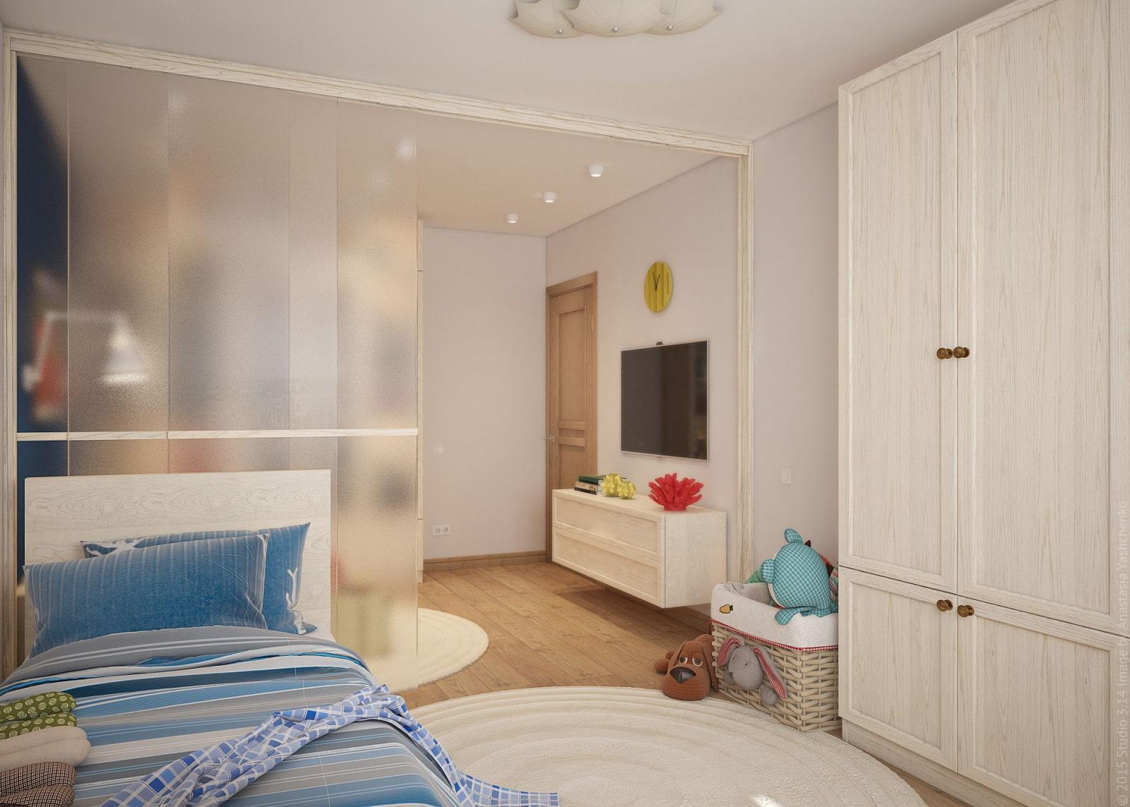 гостиная и детская в одной комнате фото