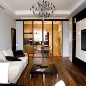 гостиная площадью 17 кв м фото декор