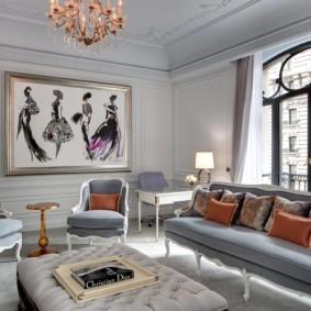 гостиная комната в светлых тонах виды фото