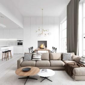 гостиная комната в светлых тонах фото идеи