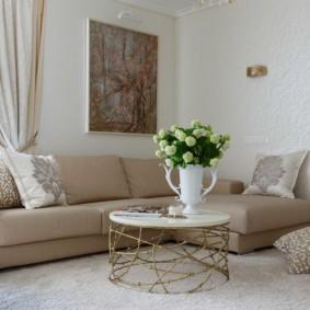 гостиная комната в светлых тонах фото дизайна