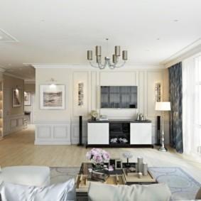 гостиная комната в светлых тонах идеи дизайна