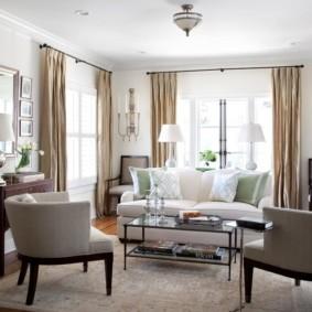 гостиная комната в светлых тонах декор идеи