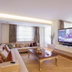 гостиная комната в светлых тонах фото интерьер