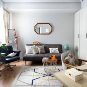 гостиная комната в светлых тонах фото оформление