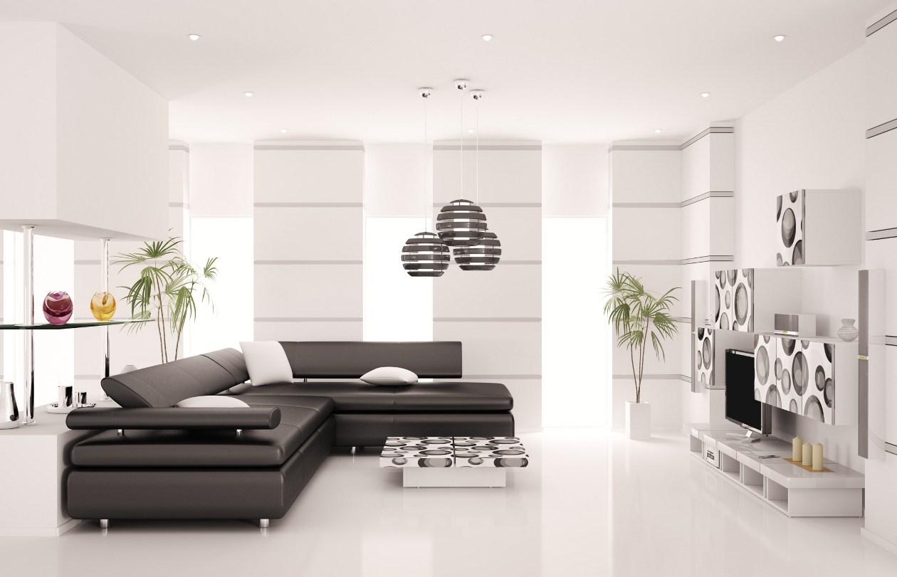 гостиная комната в светлых тонах минимализм