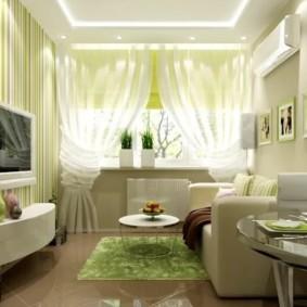 гостиная комната в зелёном цвете идеи интерьера