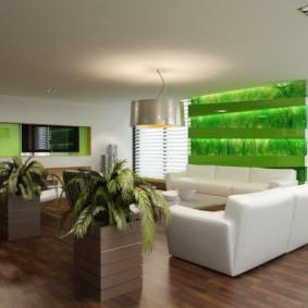 гостиная комната в зелёном цвете идеи оформления