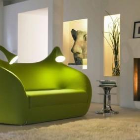 гостиная комната в зелёном цвете варианты идеи