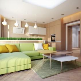 гостиная комната в зелёном цвете идеи вариантов