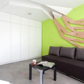 гостиная комната в зелёном цвете виды декора