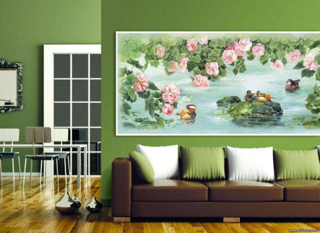 гостиная комната в зелёном цвете фото дизайн