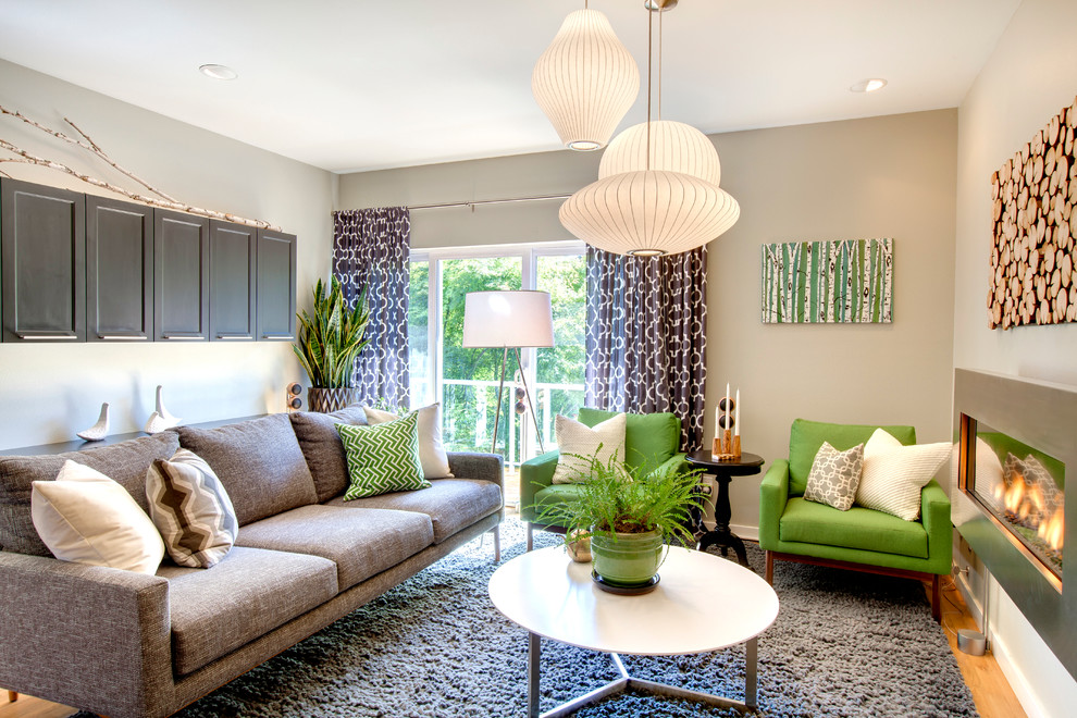 гостиная комната в зелёном цвете фото интерьер