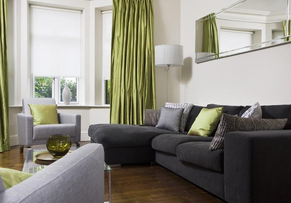 гостиная комната в зелёном цвете фото оформление