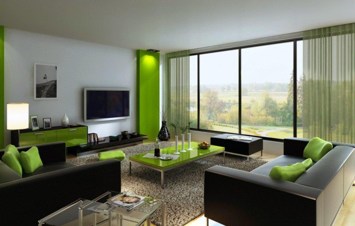 гостиная комната в зелёном цвете оформление фото