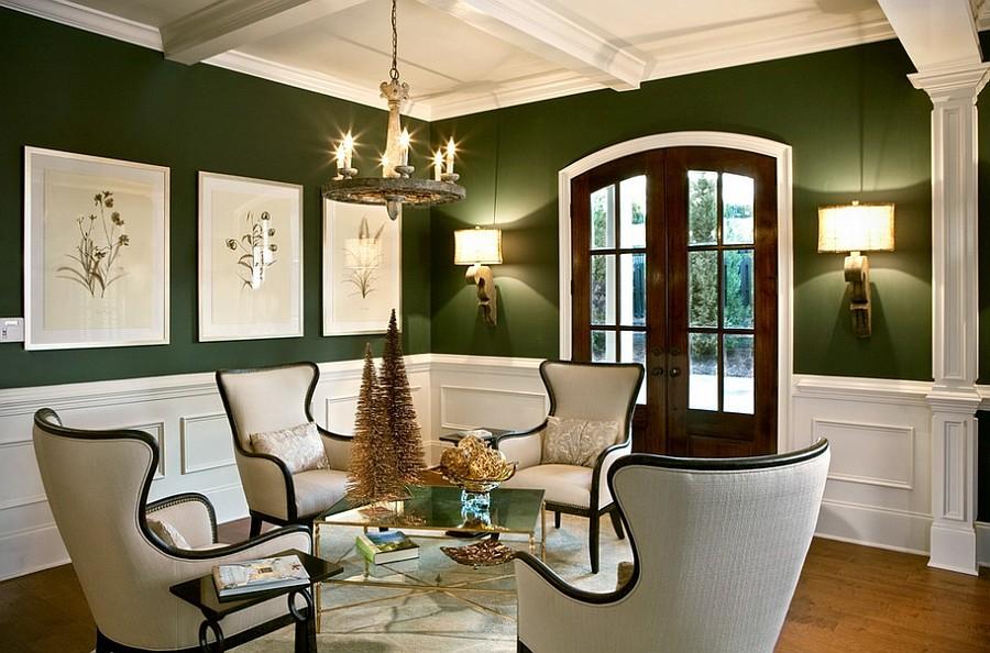 гостиная комната в зелёном цвете варианты дизайна