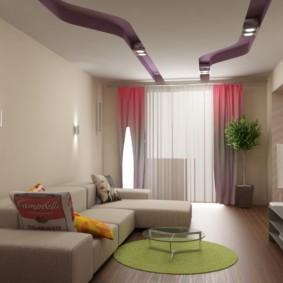 гостиная площадью 16 кв м
