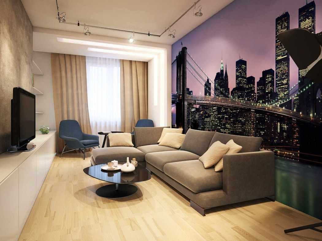 гостиная площадью 16 кв м фото интерьер