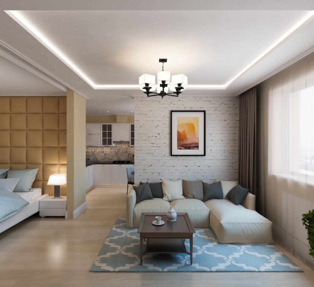 Дизайн общей комнаты в небольшой квартире