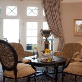 гостиная в американском стиле фото декор