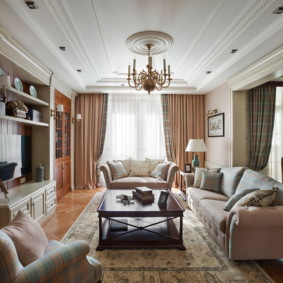 гостиная в американском стиле фото декора