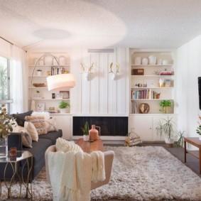 гостиная в американском стиле идеи декор