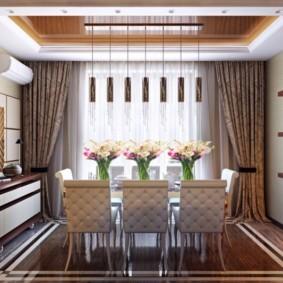 гостиная в американском стиле идеи интерьер