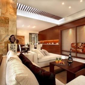 гостиная в американском стиле фото оформления